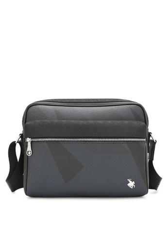 Swiss Polo black Monogram Sling Bag 5E36BAC31F081FGS_1