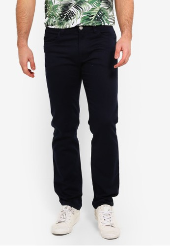 OVS blue and navy 5 Pockets Casual Trousers 7E856AA26989F2GS_1