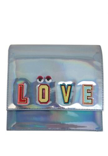 My Flash Trash silver Flirty Blink Cross Body Bag 1E496AC8B358E5GS_1