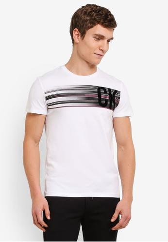 Calvin Klein white Tesher Slim Fit Crew Neck Tee - Calvin Klein Jeans CA221AA0S9CJMY_1