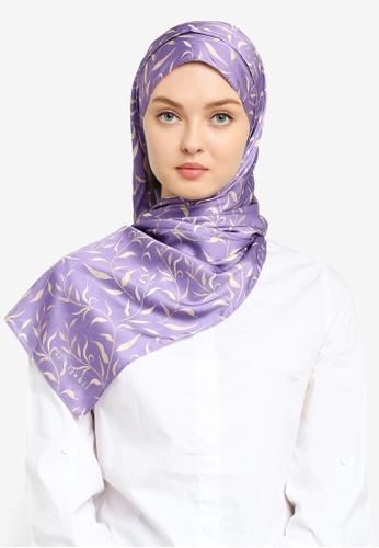 Hijabii purple Linda Shawl in Purple 0AB2EAC5A489A6GS_1