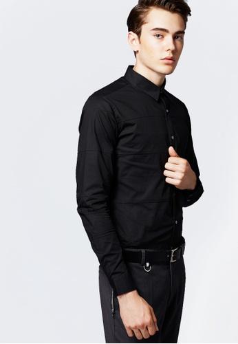 Life8 black Formal Long-Sleeved Shirts-11122-Black LI283AA0FFOXSG_1