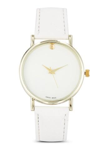 簡約仿皮圓錶, 錶類,esprit part time 飾品配件