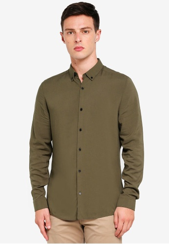 River Island 綠色 長袖襯衫 95FFFAAB03821EGS_1