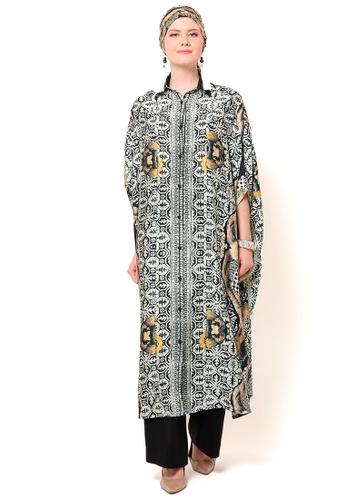 Kanzi by liza yahya multi Kanzi Collared Batik Kaftan 1789CAA70470D3GS_1