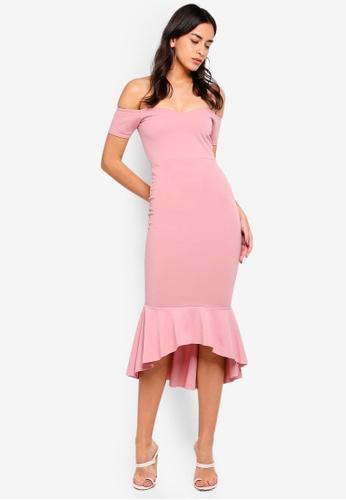 e784050e05 Shop MISSGUIDED Bardot Fishtail Hem Midi Dress Online on ZALORA Philippines