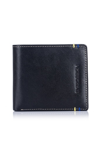 ENZODESIGN black and brown and multi Two Tone 14 Card Slots Italian Leather Bi-fold Wallet EN357AC0FP70SG_1