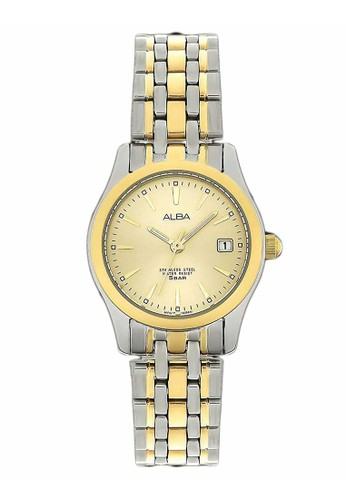 Alba gold and silver ALBA Jam Tangan Wanita - Silver Gold - Stainless Steel - AXT852X1 55A02ACBAF9B81GS_1