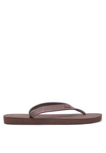 Dupe brown Urbano Flip Flops DU626SH22VVDPH_1