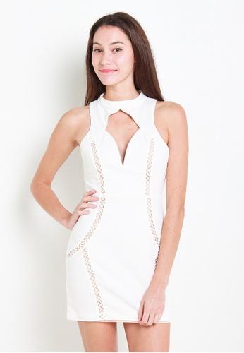 Leline Style white Rionne Dress LE802AA33TLESG_1
