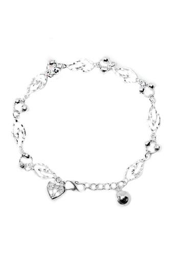 Elfi silver Elfi 925 Genuine Silver Flame Shape Beads Chain Bracelet SB-27M 36704AC6D3ED2EGS_1