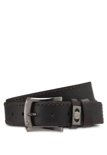 Playboy brown Playboy 40mm Faux Leather Belt PL371AC0SMBPMY_1