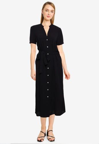 Vero Moda black V-Neck Midi Dress BBC46AAFDEC395GS_1