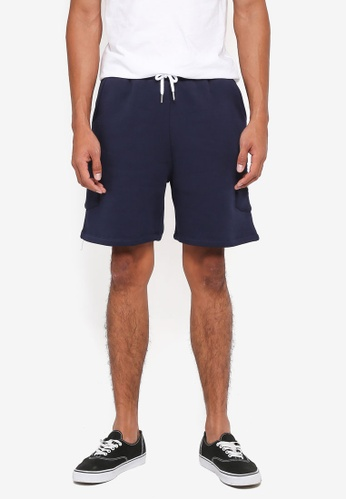 Just Hype navy Insignia Shorts CA82DAA448BDF2GS_1