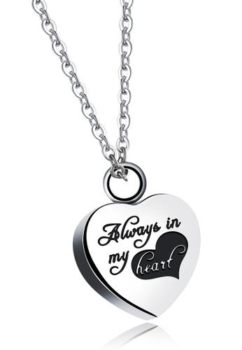 Trendyshop silver Heart Pendant Necklace 3DDD1AC2689072GS_1