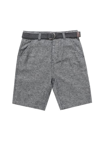 Giordano black Junior Linen Cotton Short 6BD90KA1C92882GS_1