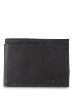 Black Leather Embossed Wallet
