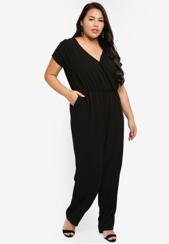 look out for official price best place for Plus Size Short Sleeve Jumpsuit