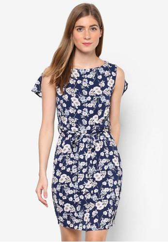 Autumesprit twn Sun 花卉繫帶無袖連身裙, 服飾, 洋裝