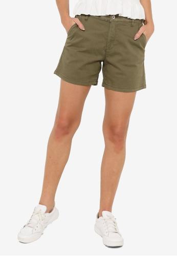 JACQUELINE DE YONG green Dakota Life Chino Shorts B7A9BAA267ACF4GS_1