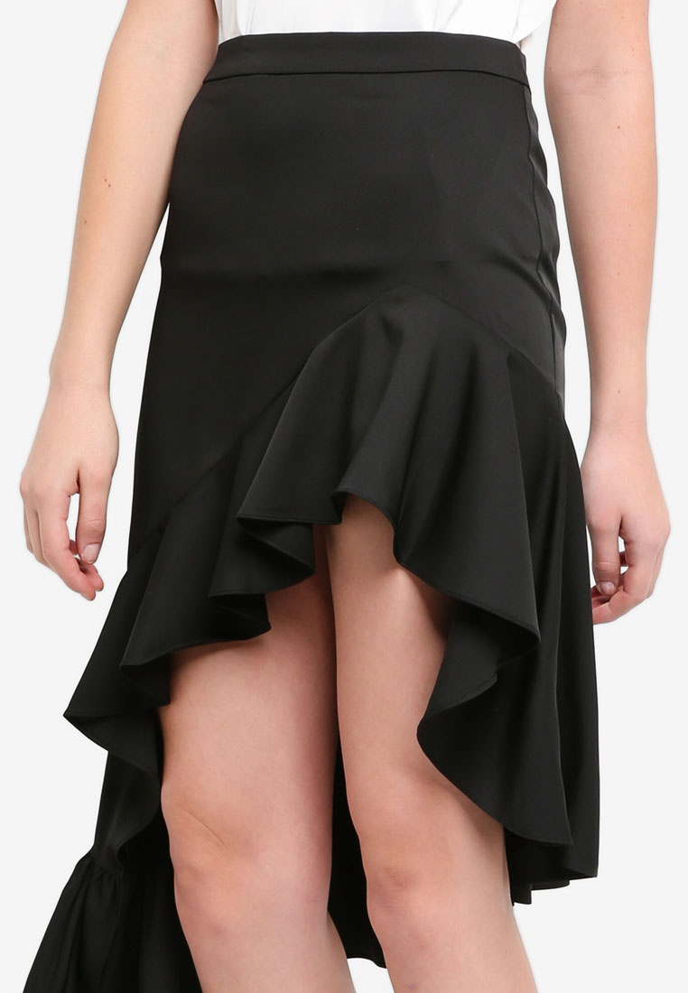 Asymmetric Black Preen Ruffle amp; Proper Mini Skirt Sx0qAE04