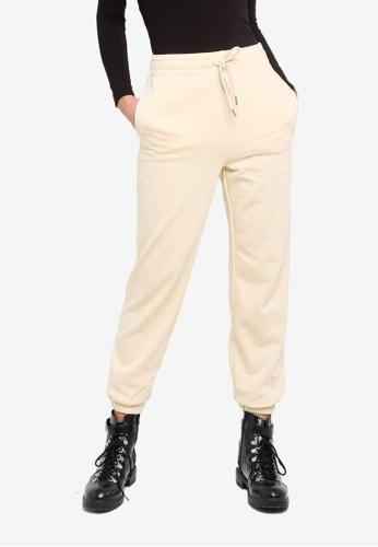 H&M beige Cotton-Blend Sweatpants E41B8AAABE0433GS_1