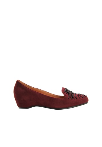 SEMBONIA red SEMBONIA Suede Loafer (Maroon) B2319SH19CD19AGS_1