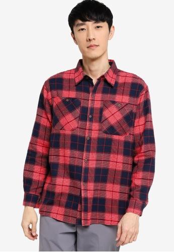 ZALORA BASICS multi Oversized Fit Flannel Shirt 1D392AA1A8906DGS_1