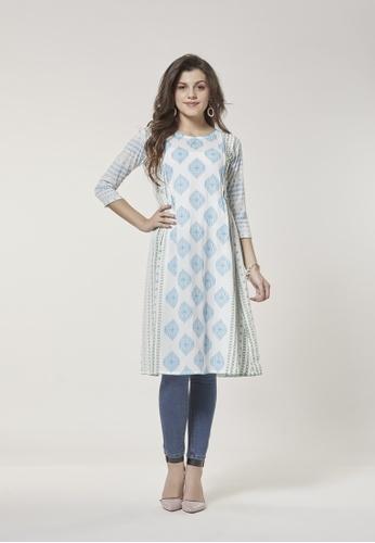 Le Reve multi Le Reve Princess A-Line Kameez Dress CA561AA8D864FAGS_1