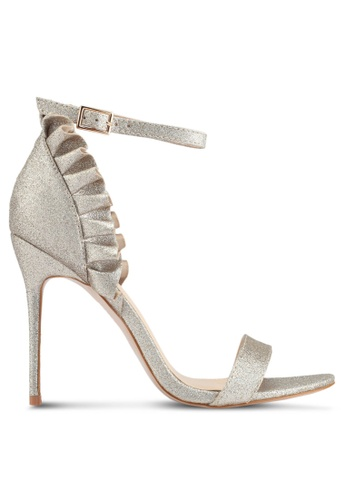 Public Desire gold Glory Frill Detail Stiletto Heels 8873ASHF5048E0GS_1
