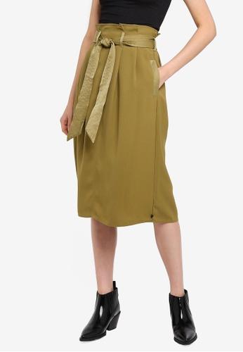 SCOTCH & SODA 綠色 高腰裙 4066CAAC3B2F21GS_1