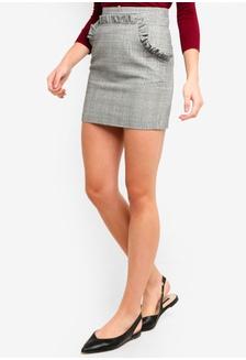 d86702be5 Ruffled Plaid Woven Mini Skirt 0845FAAB458D85GS_1