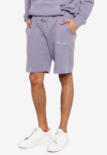 Mennace purple Essential Signature Shorts D8CAFAA3579EADGS_1