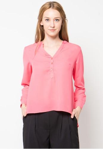Raspberry pink Paraya Long Sleeve Blouse RA572AA62PTHID_1