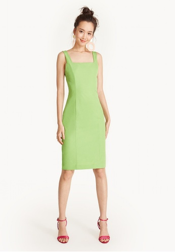 Pomelo green Mini Strap Tank Dress 786D8AA6809F63GS_1
