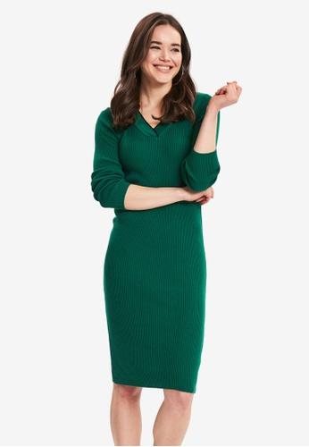LC Waikiki 綠色 輕巧鉛筆洋裝 D3BDAAA24B38BBGS_1