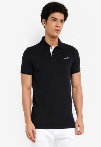 Hollister black Core Polo Shirt 24E31AA441AEF0GS_1