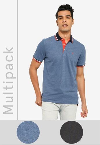 JACK & JONES multi 2 Packs Paulos Polo Shirts E1AF5AA107D7A3GS_1