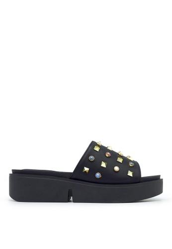 Carlo Rino black Carlo Rino 33370-A001-08 Slide Flat Sandals (Black) 35956SH691C336GS_1