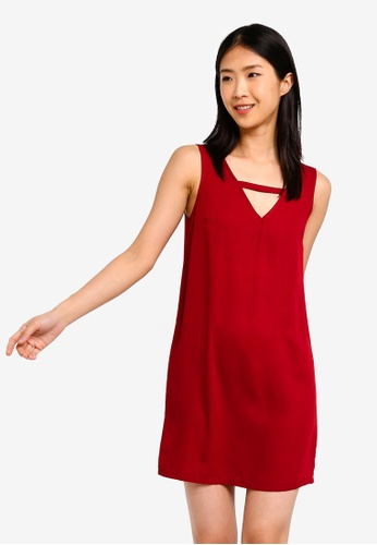 ZALORA BASICS Basic Keyhole Back Shift Dress