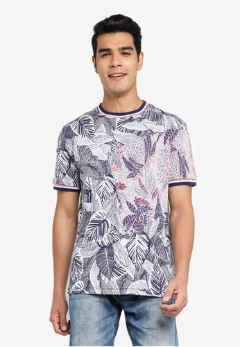 Desigual navy Multi Tropical Printed T-Shirt B725BAA673EAF9GS_1