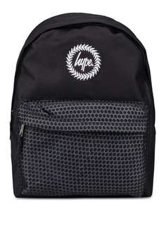 Just Hype black Hexagon Pocket Backpack 0C1A0ACF994144GS 1 e8030dbeee098