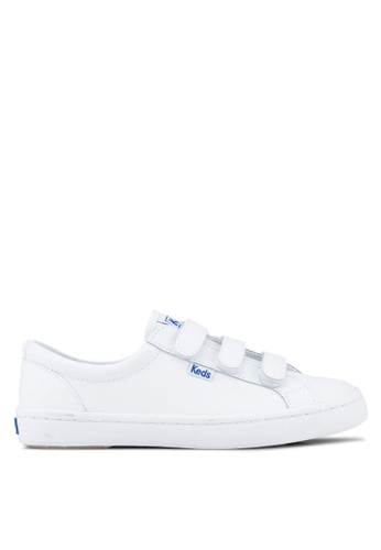 Keds white Tiebreak Leather Sneakers KE942SH84ORNMY_1