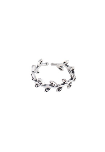 OrBeing white Premium S925 Sliver Leaf Ring 4CFFAAC62460E6GS_1