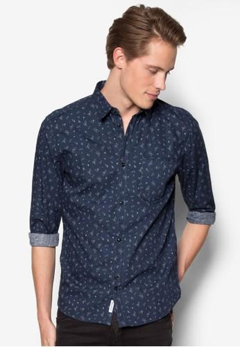 碎片印花長袖襯衫esprit 品牌, 服飾, 服飾