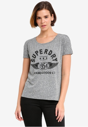 Superdry grey 1954 Brand Goods Slim Boyfriend Tee SU137AA0T20ZMY_1