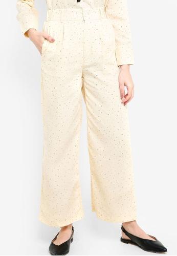 Zalia beige Wide Leg Pants E9EB0AA744FD39GS_1