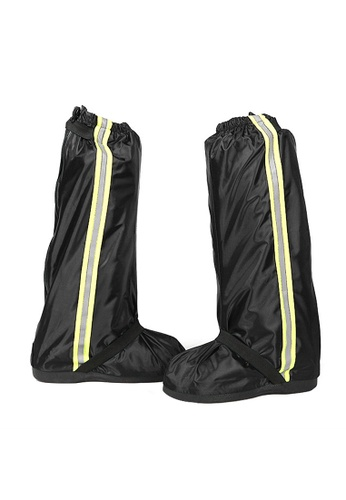 Fashion by Latest Gadget black Foldable Waterproof Rain Shoes Cover With Rubber Sole Large AD033SH9F7A6EFGS_1
