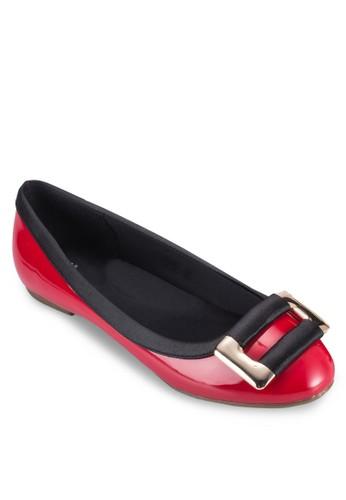 扣環飾zalora 包包 ptt平底鞋, 女鞋, 芭蕾平底鞋