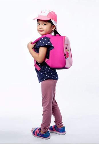 Cheekaaboo pink Toddler Girl Lil Explorer Neoprene Backpack 2D209KCBF45704GS_1